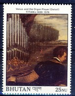+Bhutan 1989. Painting By Tizian. Michel 1099. MNH(**) - Bhutan