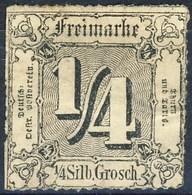 Germania Thurn Und Taxis N 1865 UN N. 20 S. 1/4 M Cat. € 10 - Thurn Und Taxis