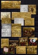 Ex-Colonies Françaises Belle Collection De 32 Timbres En Or Et Argent Neufs ** MNH Années 1960/70. TB. A Saisir! - Collezioni