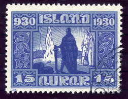 ICELAND 1930 Millenary Of Parliament 15 Aur. Used  Michel 129 - 1918-1944 Autonomous Administration