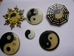Lot 6 Pin S Ying Yang  Different - Badges