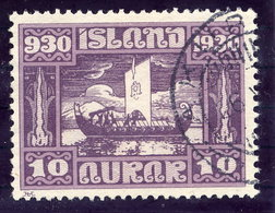 ICELAND 1930 Millenary Of Parliament 10 Aur. Used  Michel 128 - Used Stamps