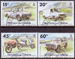 TRISTAN DA CUNHA 1995 SG #576-79 Compl.set Used Local Transport - Tristan Da Cunha