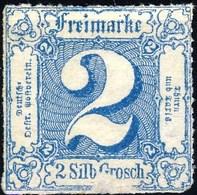 Germania Thurn Und Taxis N 1866 UN N. 30 S. 2 Azzurro M Cat. € 2 - Thurn Und Taxis