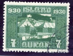 ICELAND 1930 Millenary Of Parliament 7 Aur. Used  Michel 127 - Used Stamps