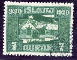 ICELAND 1930 Millenary Of Parliament 7 Aur. Used  Michel 127 - 1918-1944 Autonomous Administration
