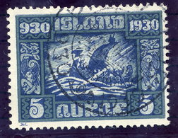 ICELAND 1930 Millenary Of Parliament 5 Aur. Used  Michel 126 - 1918-1944 Autonomous Administration