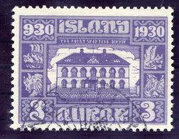 ICELAND 1930 Millenary Of Parliament 3 Aur. Used  Michel 125 - 1918-1944 Autonomous Administration