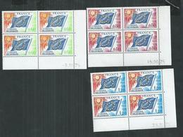 France. Timbre De Service Drapeaux  No 46/47/48 ** ; Cote 41€ - Coins Datés