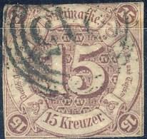 Germania Thurn Und Taxis S 1859 MI N. 24 Kr. 15 Lilla Usato Cat. € 150 - Thurn Und Taxis