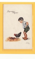 ILLUSTRATEURS / ILLUSTRATEUR HENRY / Enfant, Poule Et Oeufs En Chocolat /Joyeuses Paques - Illustrateurs & Photographes