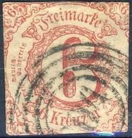 Germania Thurn Und Taxis S 1859 UN N. 38 K. 6 Rosa Carminio Usato Cat. € 60 - Thurn Und Taxis