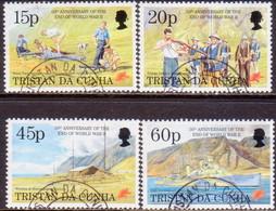TRISTAN DA CUNHA 1995 SG #580-84 Compl.set+m/s Used Second World War - Tristan Da Cunha