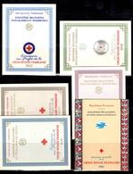 France Carnets Croix-Rouge 1953, 1956, 1957, 1958, 1959 Et 1961 Oblitérés. B/TB. A Saisir! - Croix Rouge
