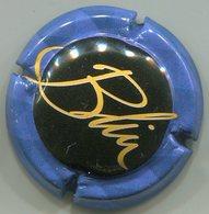 CAPSULE-CHAMPAGNE BLIN N°01 Fond Noir Contour Bleu - Champagne