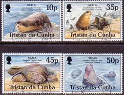 TRISTAN DA CUNHA 1995 SG #586-89 Compl.set Used Seals - Tristan Da Cunha