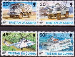 TRISTAN DA CUNHA 1996 SG #590-93 Compl.set Used 50th Anniv Of United Nations - Tristan Da Cunha