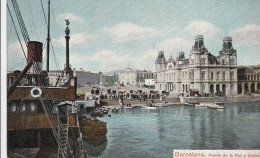 AK - Barcelona - Puerta De La Paz Y Colon - 1900 - Barcelona