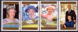 TRISTAN DA CUNHA 1996 SG #594-97 Compl.set Used 70th Birthday Of Queen Elizabeth II - Tristan Da Cunha