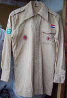 Vintage Dutch Scouts Shirt - 5 Patches - Scoutisme