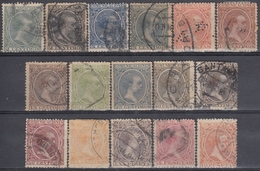 ESPAÑA 1889/1901 Nº EDIFIL 213/28 - YVERT 196/211 USADO - 1889-1931 Kingdom: Alphonse XIII