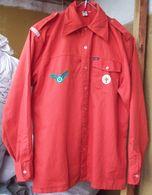 Vintage Dutch Scouts Red Shirt - 3 Patches - Scoutisme