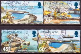 TRISTAN DA CUNHA 1996 SG #598-601 Compl.set Used New Harbour - Tristan Da Cunha