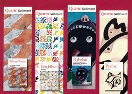 4 Marque Page.  Quarto Gallimard. - Marque-Pages
