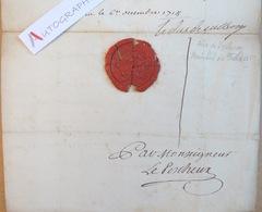 Lettre 1715 Louis Nicolas VI DE NEUVILLE Duc De VILLEROY & Beaupreau Brigade Montesson Lyon Forez Autographe Le Pescheux - Autographes