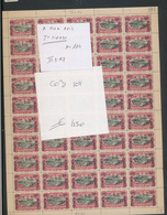 BELGIAN CONGO COMPLETE SHEET COB 104 FIRST PRINTING III3+A7 MNH - Feuilles Complètes