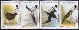 TRISTAN DA CUNHA 1996 SG #602-05 Compl.set Used Gough Island As World Heritage Site - Tristan Da Cunha