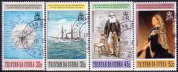 TRISTAN DA CUNHA 1996 SG #606-09 Compl.set Used Queen Victoria Portrait - Tristan Da Cunha