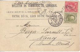Luxembourg ,n° 63 + N° 73 Sur Bulletin De Commande De 1897 ,2 Scans - 1906 Guillaume IV