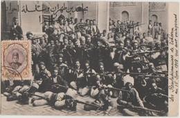 CPA IRAN PERSE PERSIA TEHERAN Révolution écrite Sur Le Dessus 15 Juin 1909 - Iran