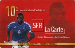 FRANCE - Equipe De France: Marcel Desailly, SFR Card , 10 € , Used - France