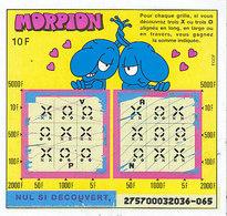 Morpion 2 Jeux ,émission N° 1 ,série 27570 - Biglietti Della Lotteria