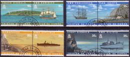 TRISTAN DA CUNHA 1997 SG #611-18 Compl.set Of 4 Horiz.pairs Used Visual Communications - Tristan Da Cunha