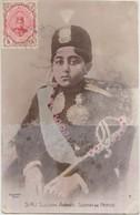 CPA MAXI IRAN PERSE PERSIA S.M.I. Sultan AHMAD SCHAH Timbre Stamp 1918 - Iran