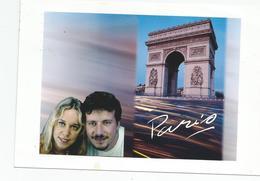 Photographie Montage Cachet Paris 1999 Personalised / Postcards Photo Envoyée En Carte Postale - Foto
