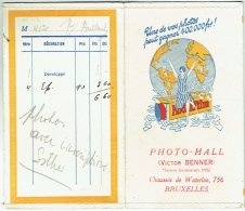 Foto/ Photo.  Pochette Pour Négatifs. Photo-Hall, Victor Benner, Bruxelles. Kodak Film. - Matériel & Accessoires