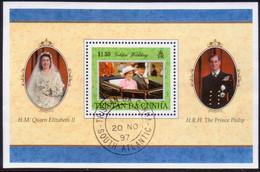 TRISTAN DA CUNHA 1997 SG #MS630 M/s Used Golden Wedding Of Queen Elizabeth II And Prince Philip - Tristan Da Cunha