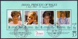 TRISTAN DA CUNHA 1998 SG #637 M/s Used Diana, Princess Of Wales - Tristan Da Cunha