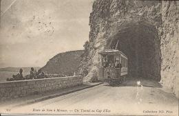 06  Route De Nice à Monaco Un Tunnel Avec Tramway  1912 - Transport (rail) - Station
