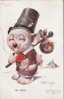 Chien Et Cochon Voyageur Cpa BONZO Par Illustrateur 1926 ( PETITS DEFAUTS TTB TENUE) Ww1812) - Dogs