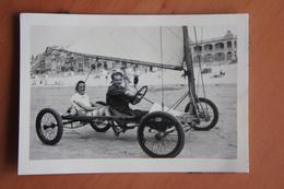 Photo WESTENDE Nieuwpoort Char à Voile 1952 Kust Belgïe - Lieux