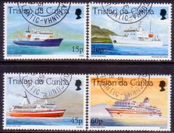 TRISTAN DA CUNHA 1998 SG #639-42 Compl.set Used Cruise Ships - Tristan Da Cunha