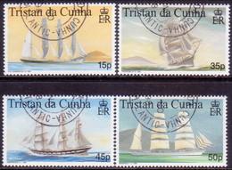 TRISTAN DA CUNHA 1998 SG #643-46 Compl.set Used Maritime Heritage (1st Series) - Tristan Da Cunha