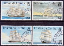 TRISTAN DA CUNHA 1999 SG #647-50 Compl.set Used Maritime Heritage (2nd Series) - Tristan Da Cunha