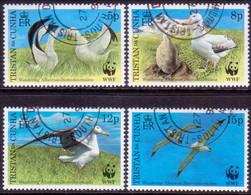 TRISTAN DA CUNHA 1999 SG #651-54 Compl.set Used Wandering Albatross - Tristan Da Cunha