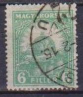 UNGHERIA  1928 SERIE ORDINARIA CORONA DI ST.ETIENNE YVERT. 383 USATO VF - Ungheria